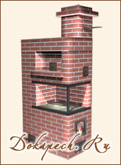 Печь для дачи с плитой из кирпича своими руками